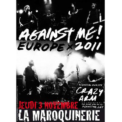 FLYER AGAINST ME! LA MAROQUINERIE 3 NOVEMBRE 2011
