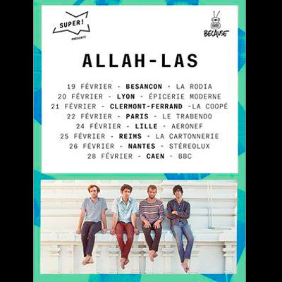 ALLAH-LAS FLYER TOURNEE FRANCE 2015