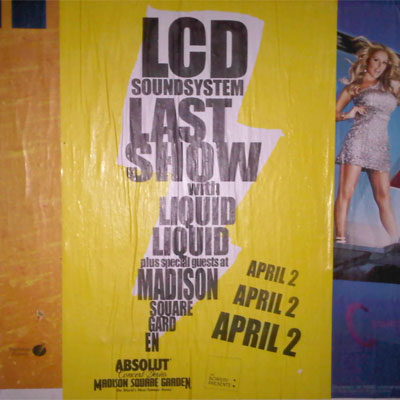 AFFICHE LCD SOUNDSYSTEM FINAL SHOW