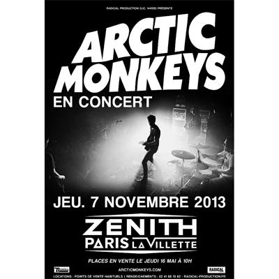 ARCTIC MONKEYS FLYER CONCERT ZENITH DE PARIS NOVEMBRE 2013