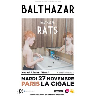BALTHAZAR FLYER CONCERT A LA CIGALE LE 27 NOVEMBRE