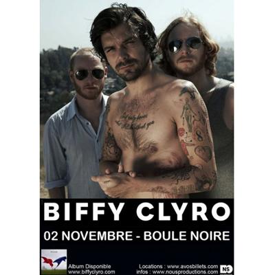 BIFFY CLYRO AFFICHE LA BOULE NOIRE LE 2 NOVEMBRE