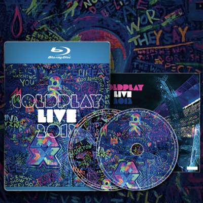 COLDPLAY POCHETTE CD/DVD LIVE 2012
