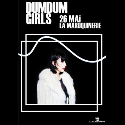 FLYER CONCERT DUM DUM GIRLS MAROQUINERIE 2014