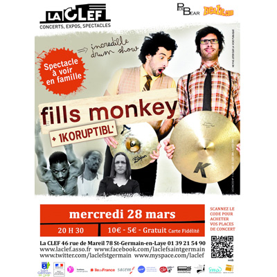 FILLS MONKEY FLYER LA CLEF LE 28 MARS