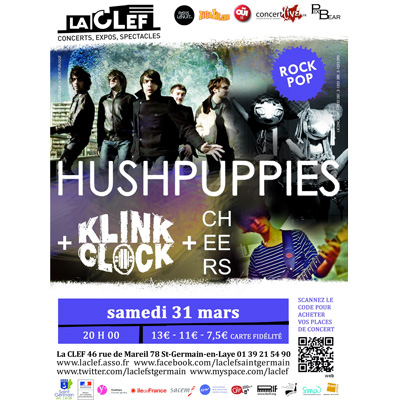 HUSHPUPPIES FLYER CONCERT LA CLEF 31 MARS