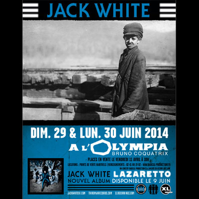 JACK WHITE FLYER CONCERT OLYMPIA 2014