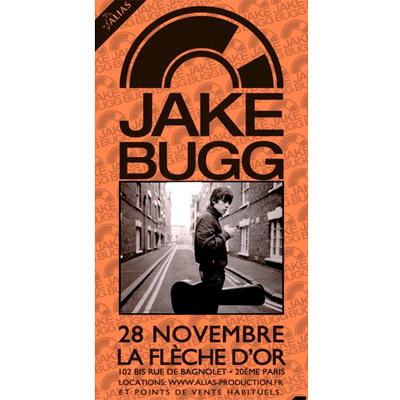 JAKE BUGG FLYER CONCERT A LA FLECHE D'OR LE 28 NOVEMBRE