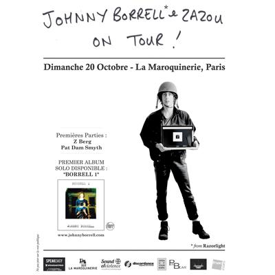 FLYER CONCERT JOHNNY BORRELL MAROQUINERIE (PARIS)
