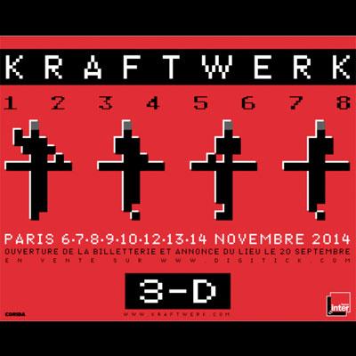 KRAFTWERK FLYER RESIDENCE HUIT CONCERTS PARIS 2014