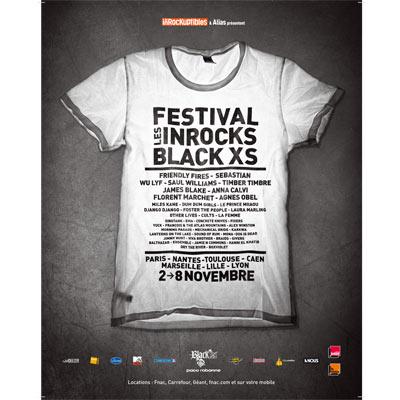 AFFICHE LES INROCKS BLACK XS 2011