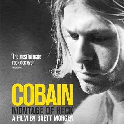 KURT COBAIN AFFICHE DOCUMENTAIRE MONTAGE OF HECK