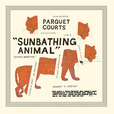 PARQUET COURTS POCHETTE NOUVEL ALBUM SUNBATHING ANIMAL