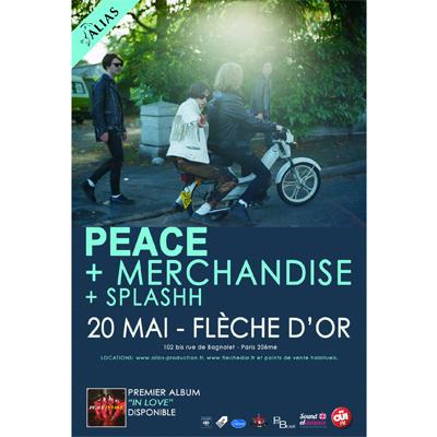 FLYER PEACE CONCERT FLECHE D'OR 20 MAI