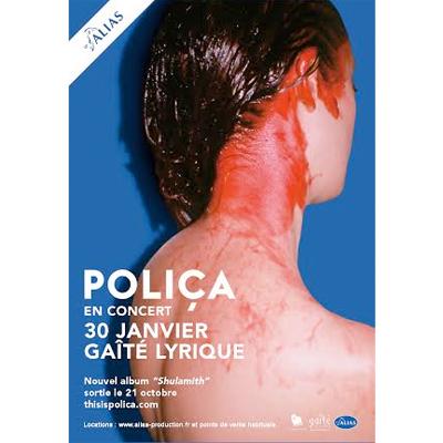 POLIÇA FLYER CONCERT GAÎTE LYRIQUE (PARIS) JANVIER