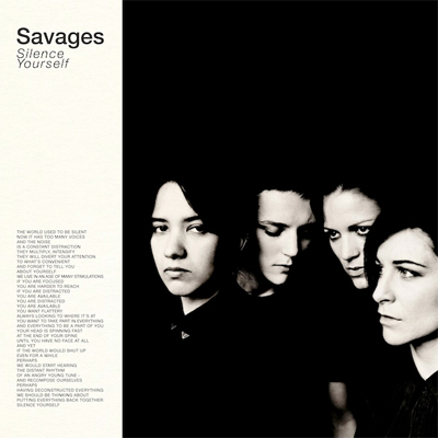 SAVAGES POCHETTE PREMIER ALBUM SILENCE YOURSELF