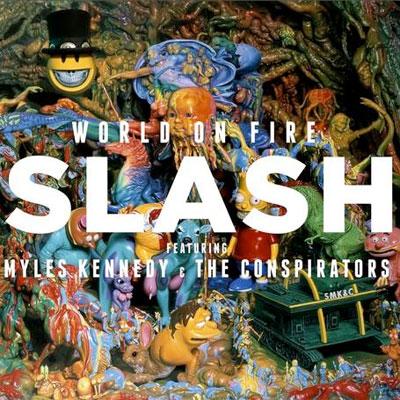 SLASH POCHETTE NOUVEL ALBUM WORLD OF FIRE