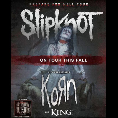 FLYER CONCERT SLIPKNOT KORN ZENITH DE PARIS 2015