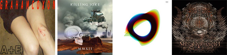 GRAHAM COXON, KILLING JOKE, ORBITAL, MESHUGGAH... : LES SORTIES DE LA SEMAINE DU 2 AVRIL 2012