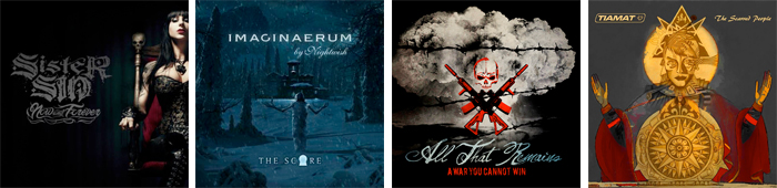 SISTER SIN, NIGHTWISH, ALL THAT REMAINS,TIAMAT... : LES SORTIES DE LA SEMAINE DU 12 NOVEMBRE 2012