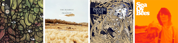 THE ELDERBERRIES, THE JEZABELS, PARADISE LOST, SEA OF BEES... : LES SORTIES DE LA SEMAINE DU 23 AVRIL 2012