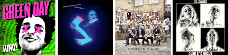 GREEN DAY, THE BEWITCHED HANDS, MUMFORD AND SONS, NO DOUBT... : LES SORTIES DE LA SEMAINE DU 24 SEPTEMBRE 2012