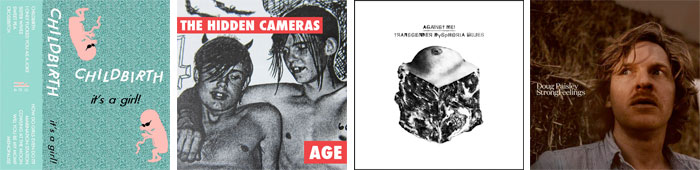 CHILDBIRTH, THE HIDDEN CAMERAS, AGAINST ME!, DOUG PAISLEY... : LES ALBUMS DE LA SEMAINE EN STREAMING