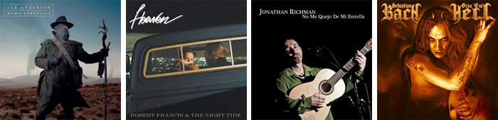IAN ANDERSON, ROBERT FRANCIS & THE NIGHT TIDE, JONATHAN RICHMAN, SEBASTIAN BACH... : LES ALBUMS DE LA SEMAINE EN STREAMING