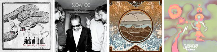 SICK OF IT ALL, SLOW JOE & THE GINGER ACCIDENT, LONELY THE BRAVE, CHILDHOOD... : LES ALBUMS DE LA SEMAINE EN STREAMING