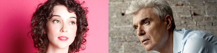 ST. VINCENT & DAVID BYRNE : ALBUM COMMUN A L'AUTOMNE 2012