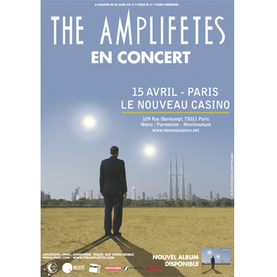 FLYER THE AMPLIFETES CONCERT NOUVEAU CASINO LE 15 AVRIL