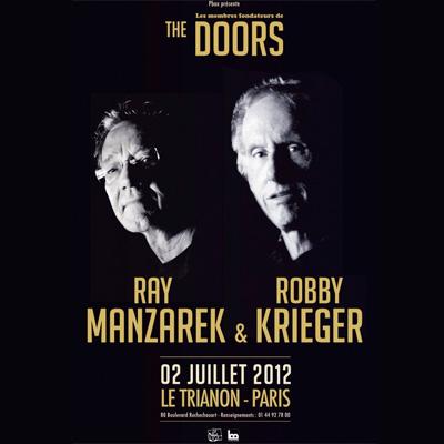 THE DOORS AFFICHE CONCERT TRIANON 2012
