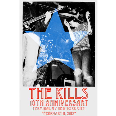 THE KILLS AFFICHE CONCERT NYC