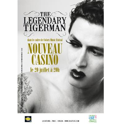 FLYERTHE LEGENDARY TIGERMAN CONCERT NOUVEAU CASINO 20 JUILLET