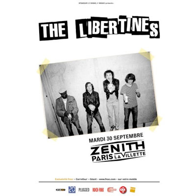 THE LIBERTINES FLYER CONCERT ZENITH DE PARIS 2014