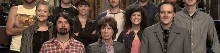 MICK JAGGER, ARCADE FIRE ET LES FOO FIGHTERS REUNIS POUR SATURDAY NIGHT LIVE
