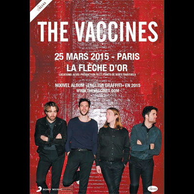 THE VACCINES FLYER CONCERT FLECHE D'OR 2015