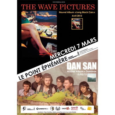 THE WAVE PICTURES FLYER CONCERT POINT EPHEMERE 7 MARS 2012