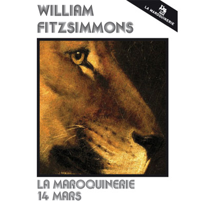 FLYER WILLIAM FITZSIMMONS CONCERT MAROQUINERIE 2014