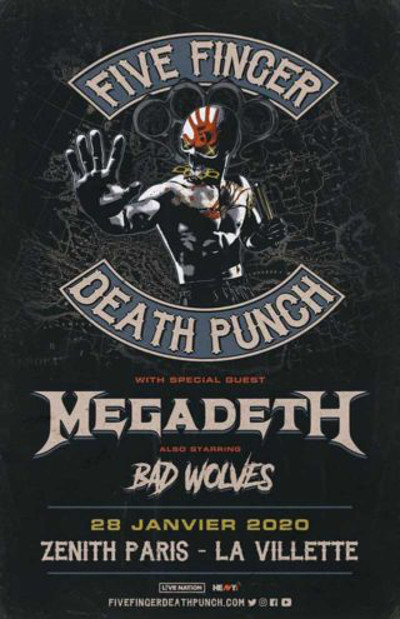 five_finger_death_punch_megadeth_concert_zenith_paris