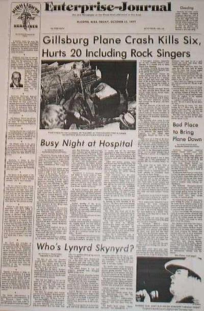 lynyrd_skynyrd_crash_newspaper_1977